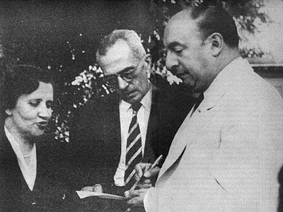 Com Neruda, 1952