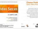 Convite para o evento Chama Poética, na Casa das Rosas - SP